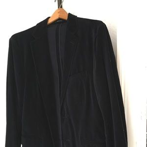 Men's Navy Velvet Blazer